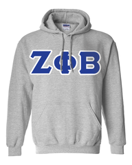 Zeta Phi Beta Hooded Sweatshirt - Gildan 18500 - TWILL