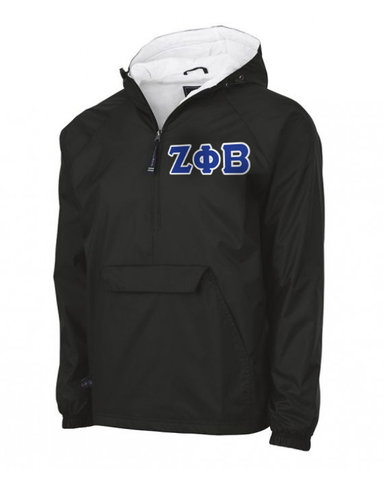 Zeta Phi Beta Pullover Jacket - Charles River 9905 - TWILL