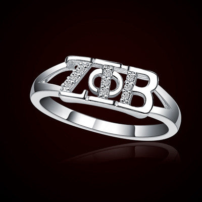 Zeta Phi Beta Sorority Ring - GSTC-R001