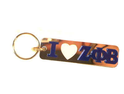 Zeta Phi Beta I Love Keychain - Craftique cqMHK