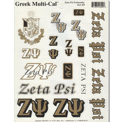 Zeta Psi Multi-Cal Sticker