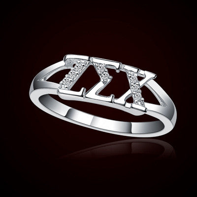 Zeta Sigma Chi Sorority Ring - GSTC-R001