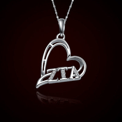 Zeta Tau Alpha Sorority Heart Charm - GSTC-HeartCharm