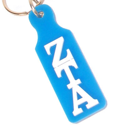 Zeta Tau Alpha Mirror Paddle Keychain - Craftique cqMPK