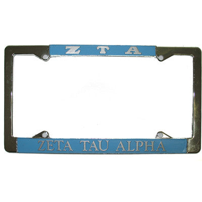 Zeta Tau Alpha License Plate Frame - Rah Rah Co. rrc
