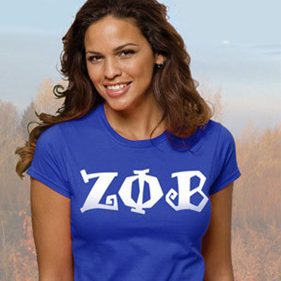 Zeta Phi Beta Ladies' Softstyle Printed T-Shirt - Gildan 6400L - CAD