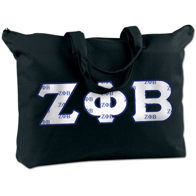 Zeta Phi Beta Shoulder Bag - Bag Edge BE009 - TWILL