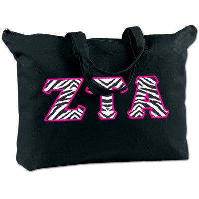 Zeta Tau Alpha Shoulder Bag - Bag Edge BE009 - TWILL