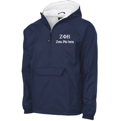 Zeta Phi Beta Embroidered Pullover Jacket - Charles River 9905 - EMB