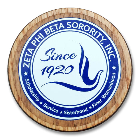 Zeta Phi Beta Large Wooden Crest - 503