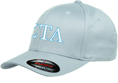 Zeta Tau Alpha Flexfit Fitted Hat - Yupoong 6277 - EMB
