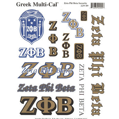 Zeta Phi Beta Multi-Cal Stickers