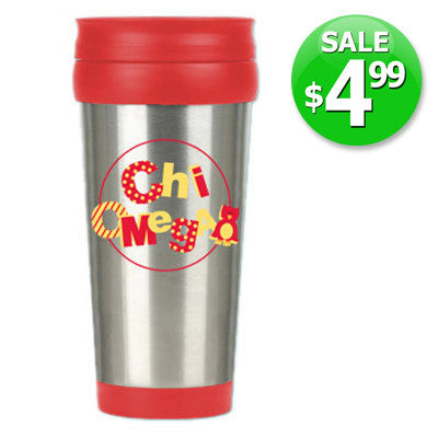 Chi Omega $4.99 Travel Mug Sale - Alexandra Co. a1030