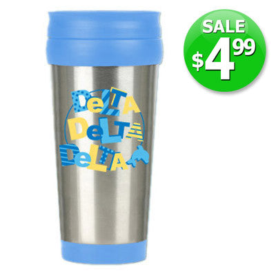 Delta Delta Delta $4.99 Travel Mug Sale - Alexandra Co. a1030