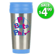 Pi Beta Phi $4.99 Travel Mug Sale - Alexandra Co. a1030