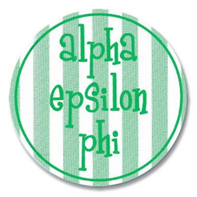 Alpha Epsilon Phi Round Bumper Sticker - Alexandra Co. a1022