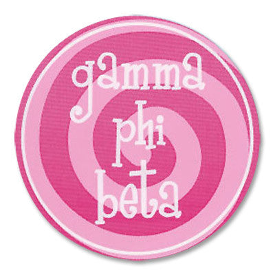 Gamma Phi Beta Round Bumper Sticker - Alexandra Co. a1022