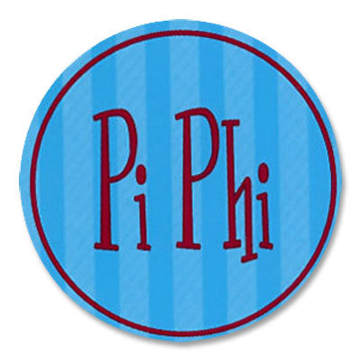 Pi Beta Phi Round Bumper Sticker - Alexandra Co. a1022