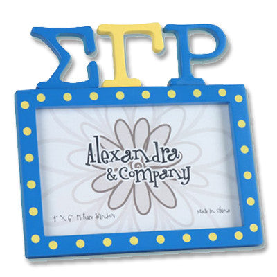 Sigma Gamma Rho Letter Photo Frame - Clearance