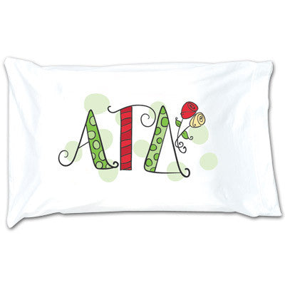 Alpha Gamma Delta Dot Pillowcase - Alexandra Co. a1032