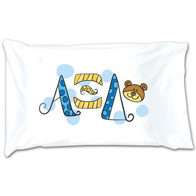 Alpha Xi Delta Dot Pillowcase - Alexandra Co. a1032 - Limited Availability