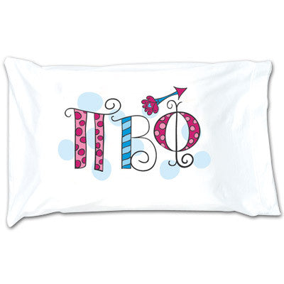Pi Beta Phi Dot Pillowcase - Alexandra Co. a1032