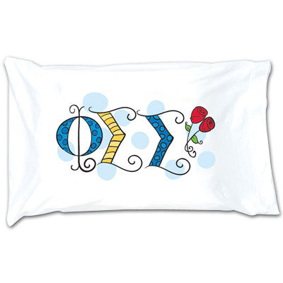 Phi Sigma Sigma Dot Pillowcase - Alexandra Co. a1032
