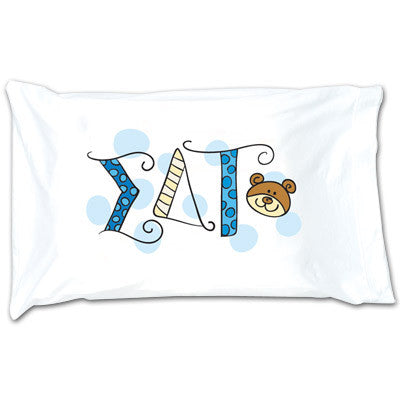 Sigma Delta Tau Dot Pillowcase - Alexandra Co. a1032