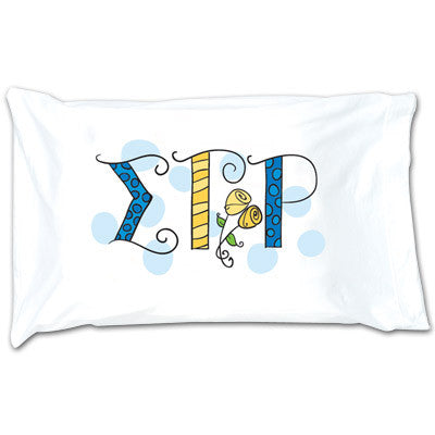 Sigma Gamma Rho Dot Pillowcase - Alexandra Co. a1032