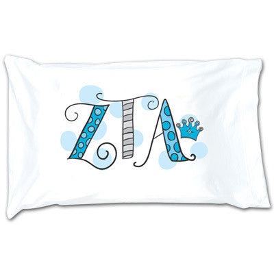 Zeta Tau Alpha Dot Pillowcase - Alexandra Co. a1032
