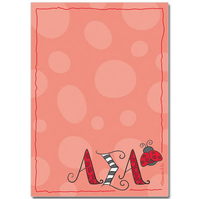 Alpha Sigma Alpha Sorority Notepad - On Sale - Alexandra Co. a1034