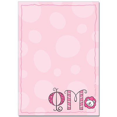Phi Mu Sorority Notepad - On Sale - Alexandra Co. a1034