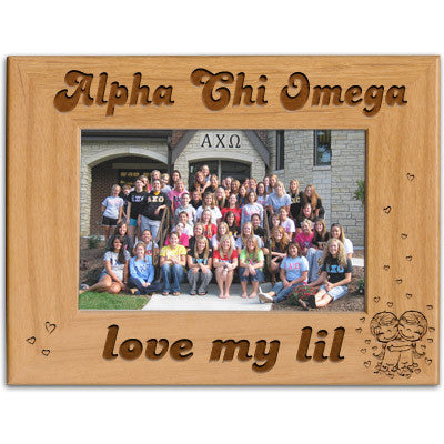 Alpha Chi Omega Love My Lil Picture Frame - PTF146 - LZR