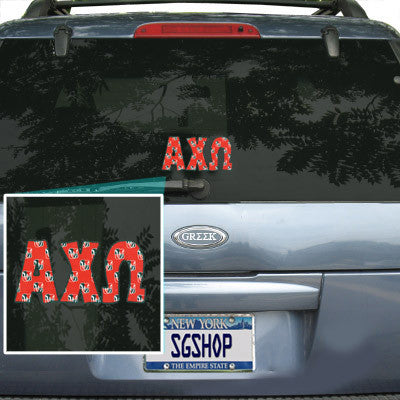 Alpha Chi Omega Mascot Car Sticker