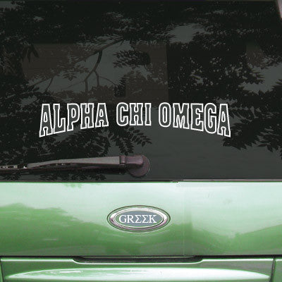 Alpha Chi Omega Stadium Sticker - Angelius Pacific apsc