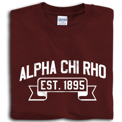 Alpha Chi Rho Vintage Football Printed T-Shirt - Gildan 5000 - CAD