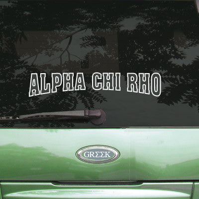 Alpha Chi Rho Stadium Sticker - Angelius Pacific apsc