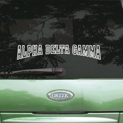 Alpha Delta Gamma Stadium Sticker - Angelius Pacific apsc