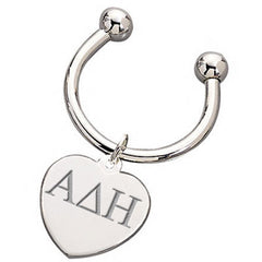 Alpha Delta Eta Heart Key Ring - McCartney mc835-G101