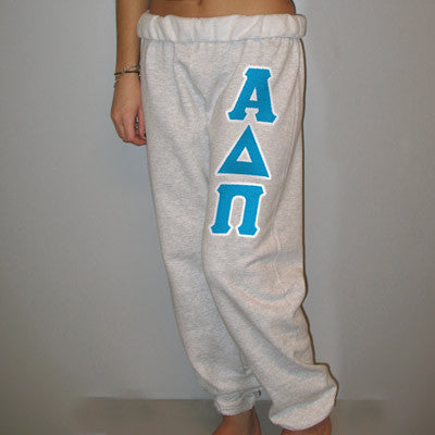Alpha Delta Pi Sorority Sweatpants - Jerzees 973 - TWILL