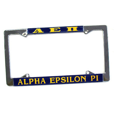 Alpha Epsilon Pi License Plate Frame - Rah Rah Co. rrc