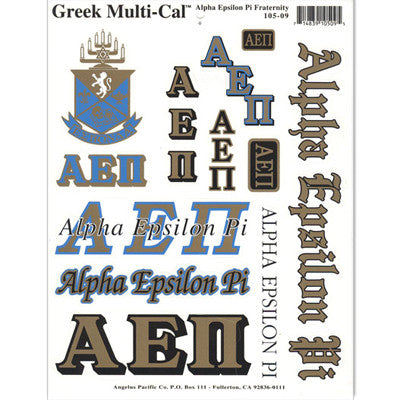 Alpha Epsilon Pi Multi-Cal Stickers