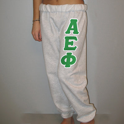 Alpha Epsilon Phi Sorority Sweatpants - Jerzees 973 -TWILL