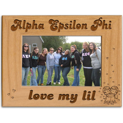 Alpha Epsilon Phi Love My Lil Picture Frame - PTF146 - LZR