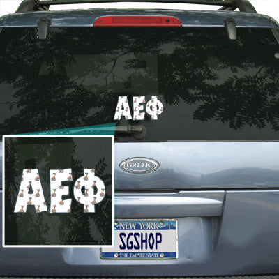 Alpha Epsilon Phi Mascot Car Sticker
