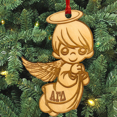 Alpha Gamma Delta Angel Ornament - LZR