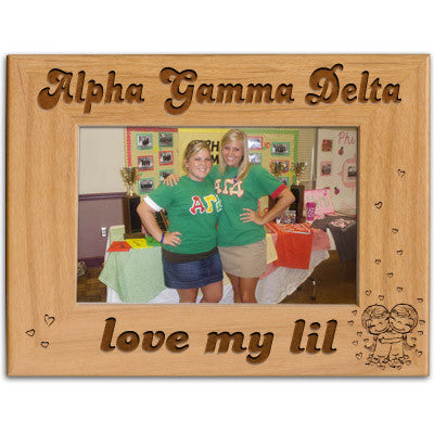 Alpha Gamma Delta Love My Lil Picture Frame - PTF146 - LZR