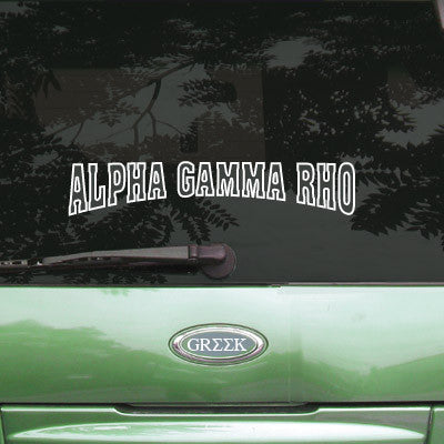 Alpha Gamma Rho Stadium Sticker - Angelius Pacific apsc - CAD