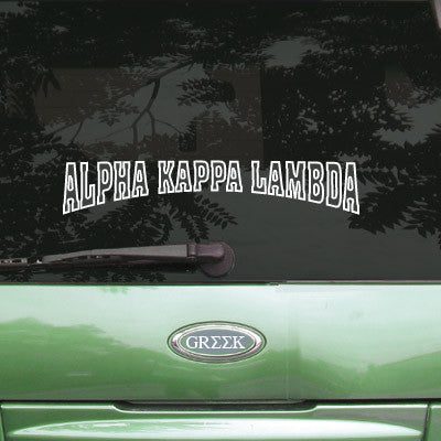 Alpha Kappa Lambda Stadium Sticker - Angelius Pacific apsc