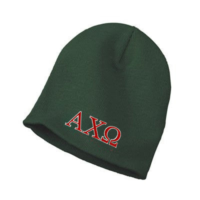 9f4695f0a34 Alpha Chi Omega Sorority Beanie with Embroidery - Sorority Apparel